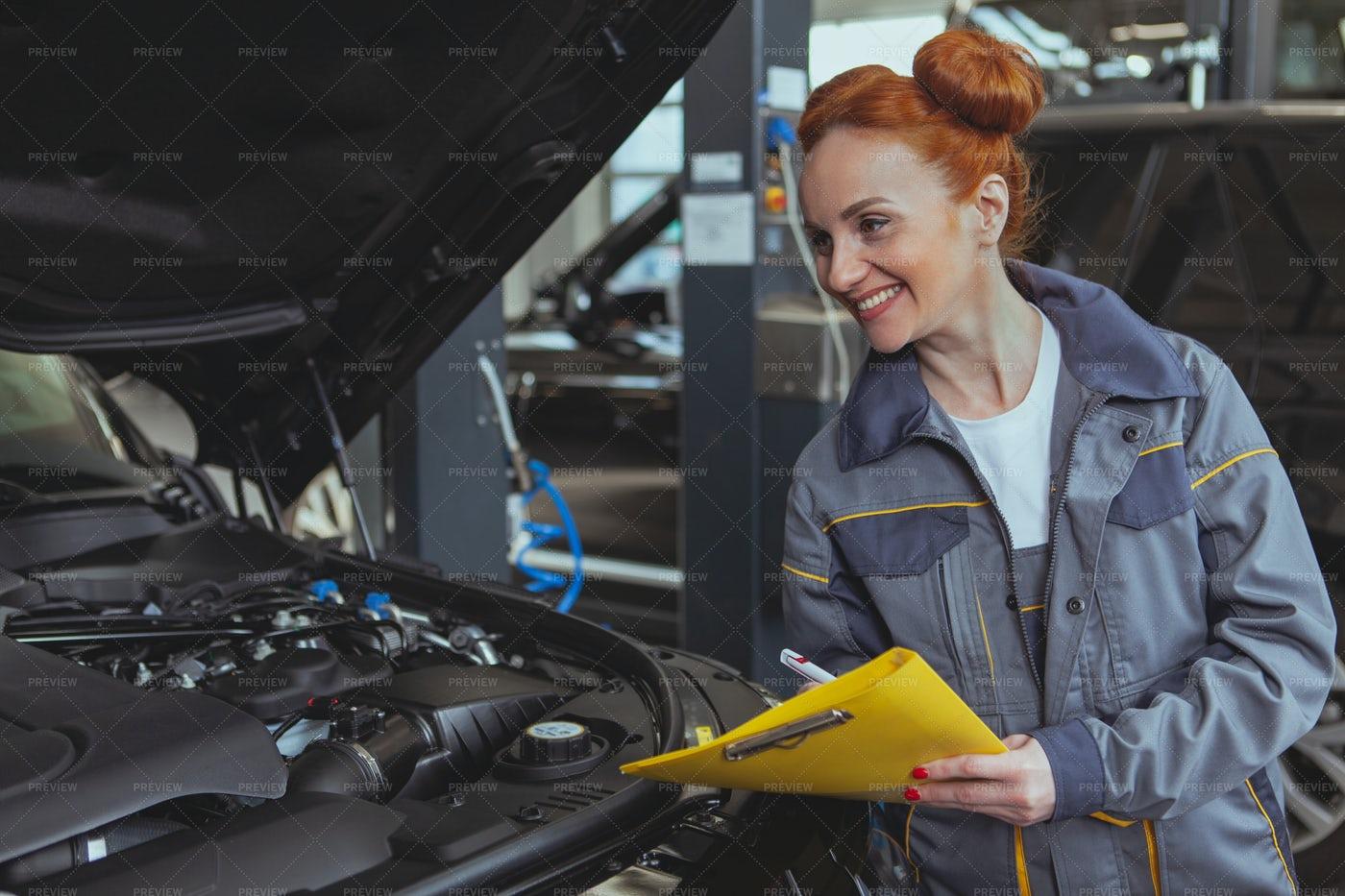 Servicing A Car: Stock Photos