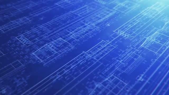 Construction Blueprint Backgrounds: Stock Motion Graphics