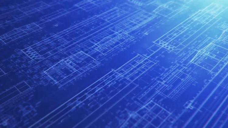 Construction Blueprint Backgrounds: Motion Graphics