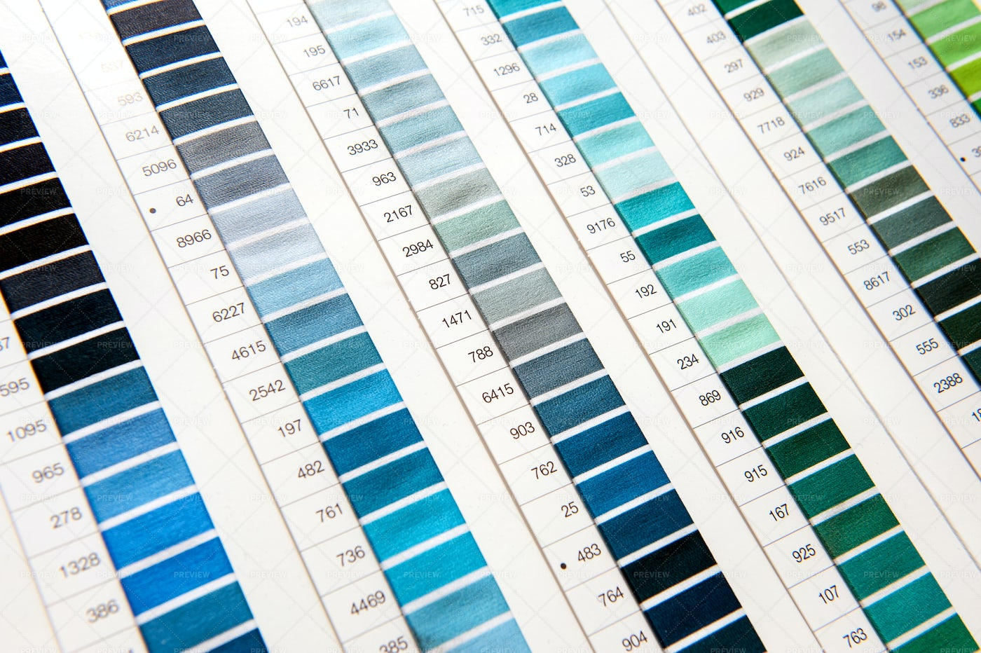 Detail Of Color Chart: Stock Photos