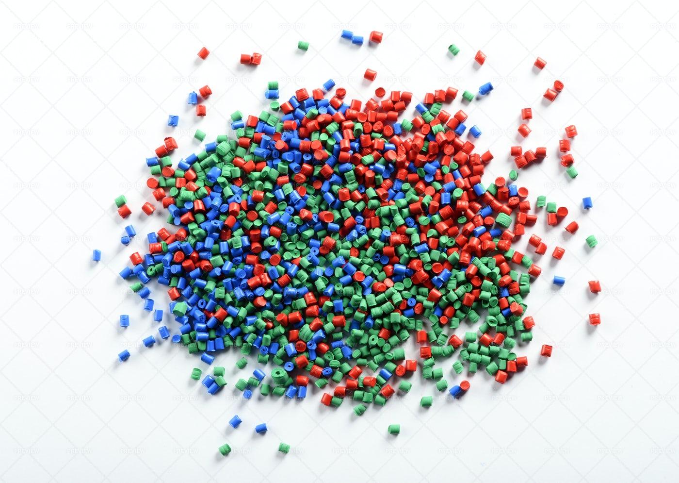 Colorful Plastic Granules: Stock Photos