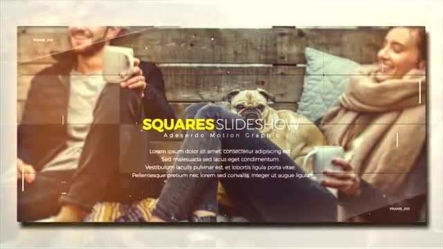 Squares Slideshow: After Effects Templates