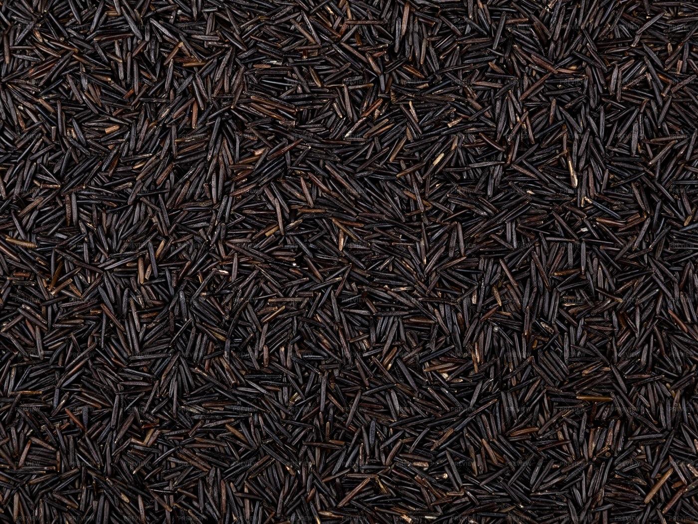 Black Rice Background: Stock Photos