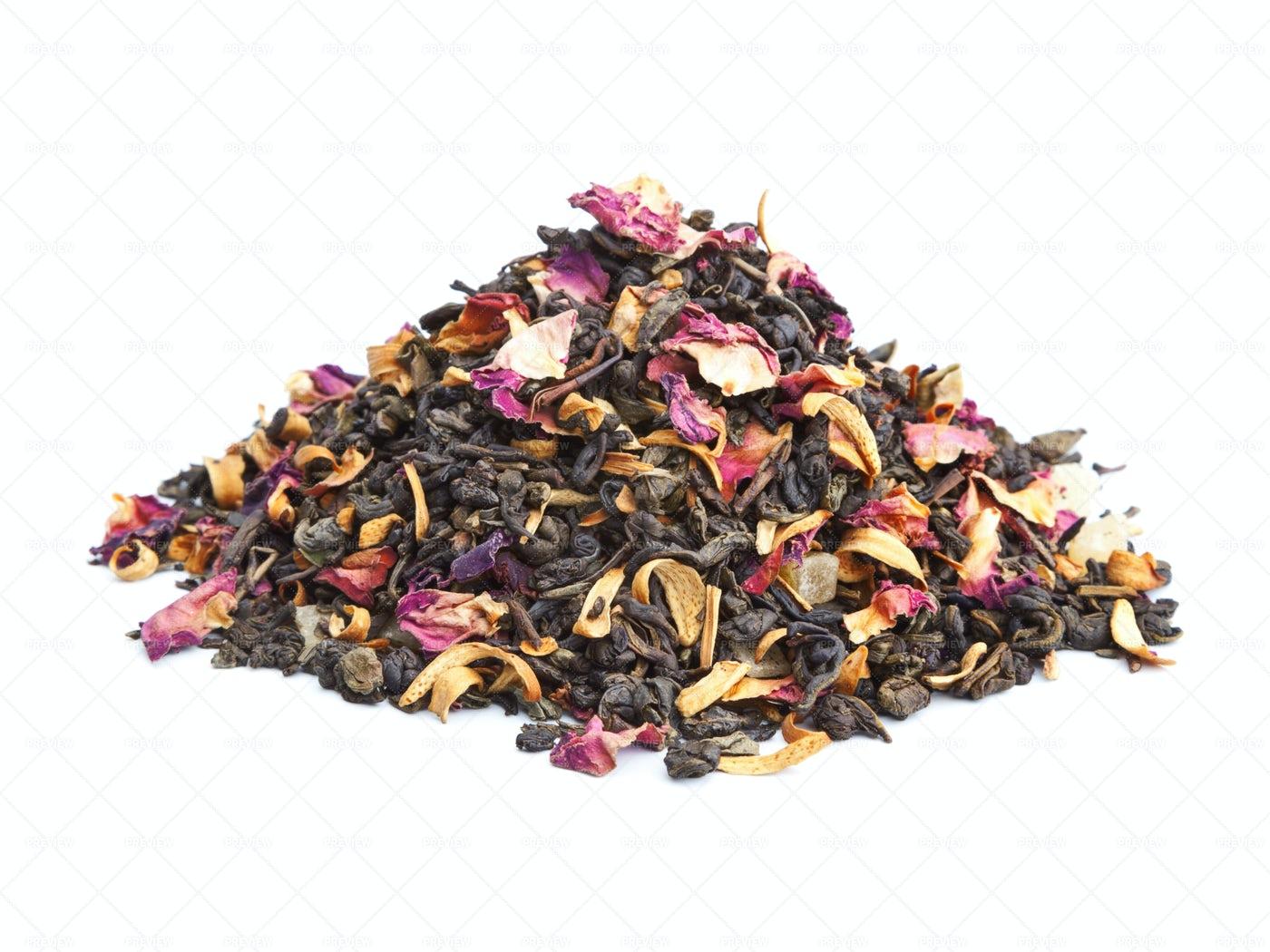 Flavored Green Tea: Stock Photos