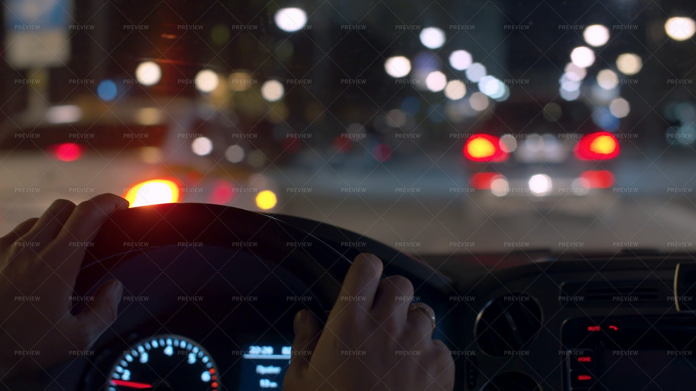 Driving At Night: Stock Photos