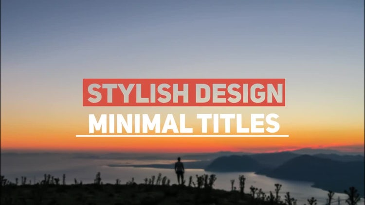 Animated Titles: After Effects Templates