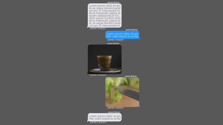 Messages Constructor: After Effects Templates