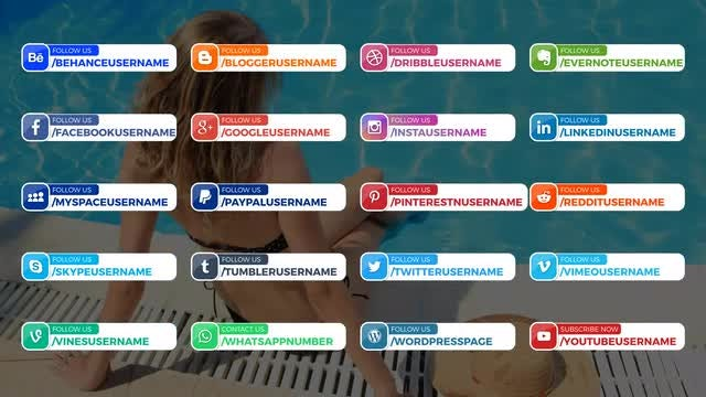 20 Modern Social Media Lower Thirds: After Effects Templates