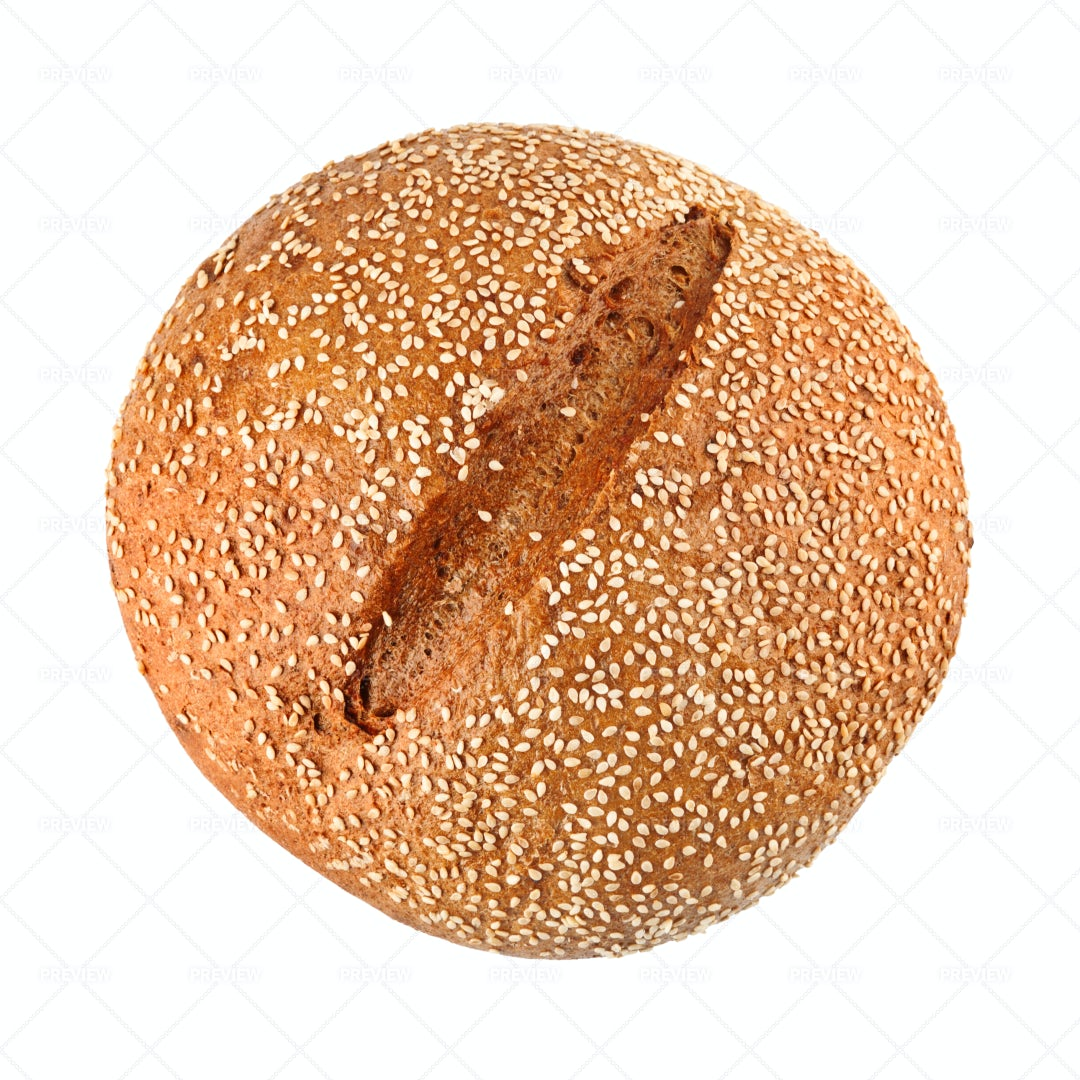 Onion Bread With Sesame Seeds: Stock Photos