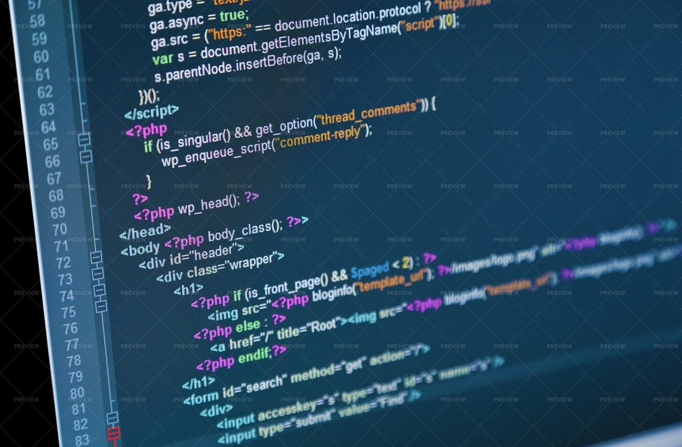 Computer Code: Stock Photos