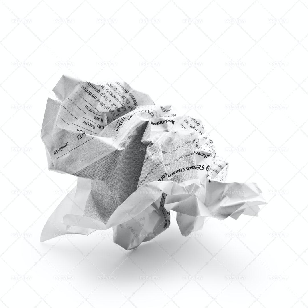 Crumpled Paper: Stock Photos