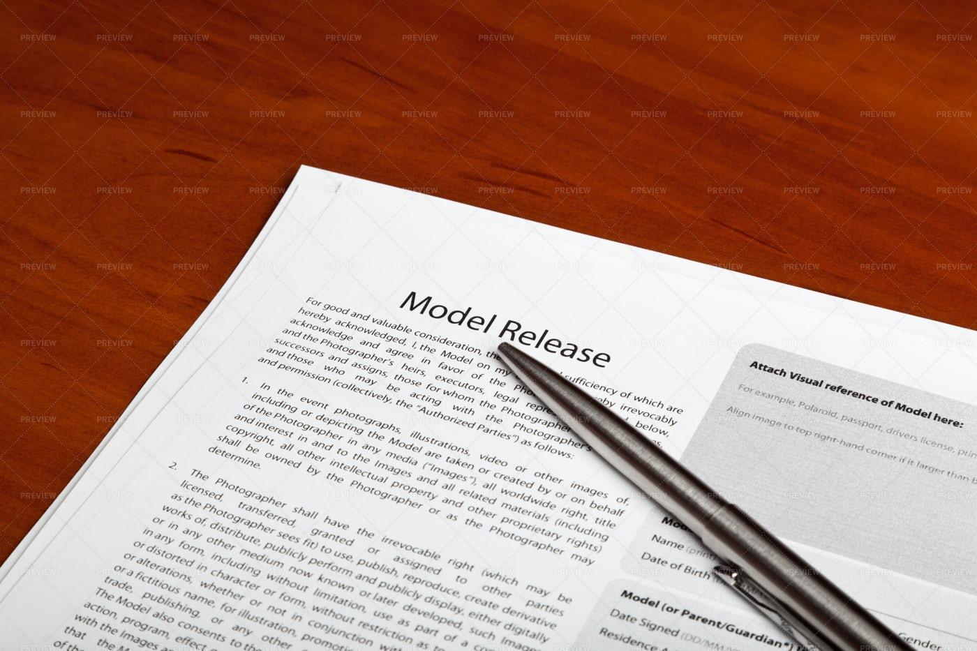 Model Release: Stock Photos