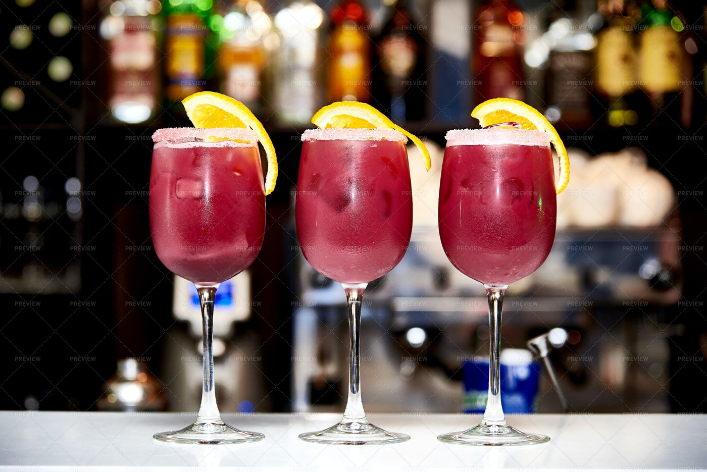 Three Cold Cocktails: Stock Photos