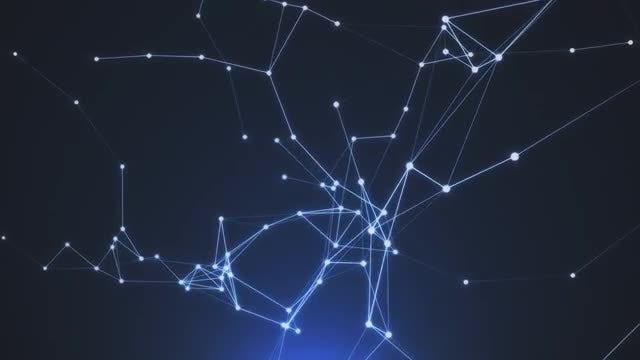 Space Plexus Background: Stock Motion Graphics
