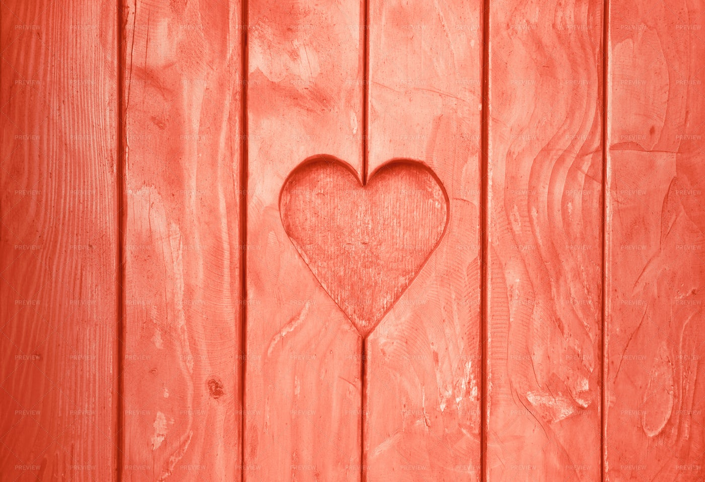 Heart Shaped In Wood: Stock Photos