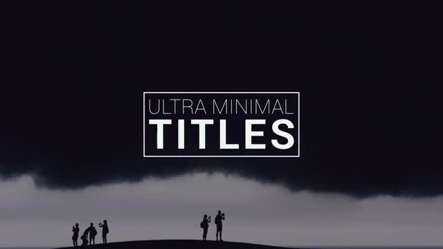 Ultra Minimal Titles: After Effects Templates