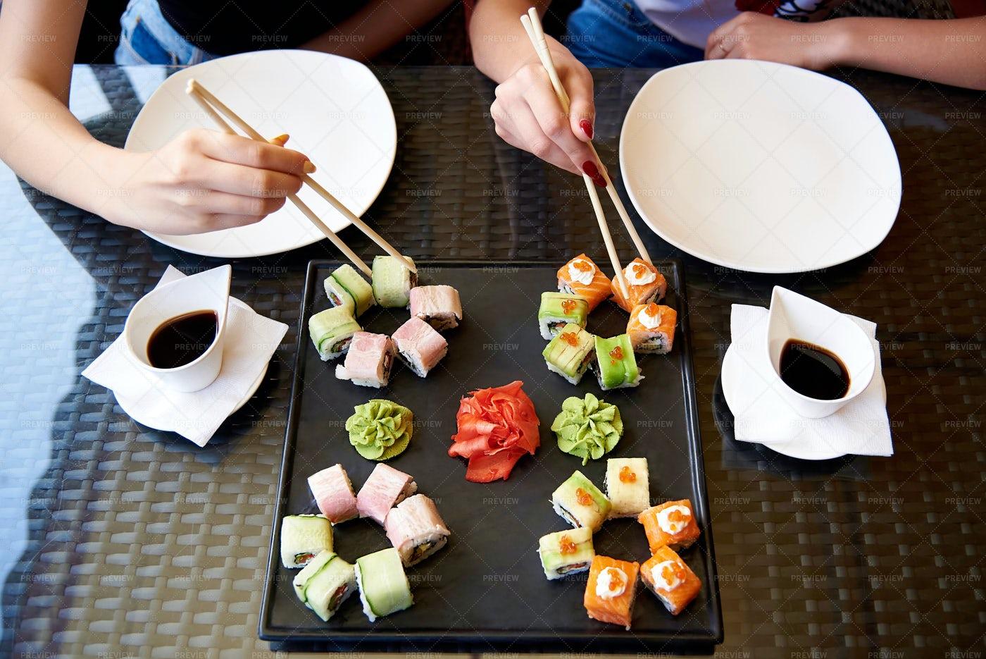 A Table Of Sushi: Stock Photos
