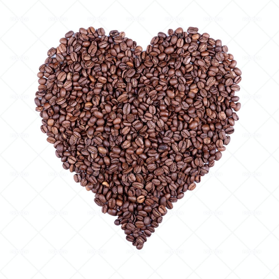 Heart Of Coffee: Stock Photos
