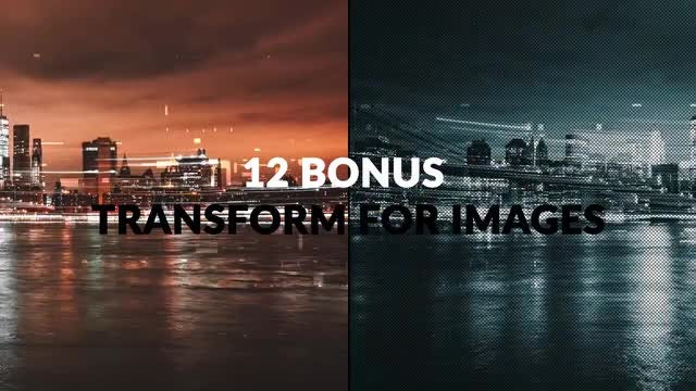 34 Transition Pack + 12 Bonus Transformations: After Effects Templates