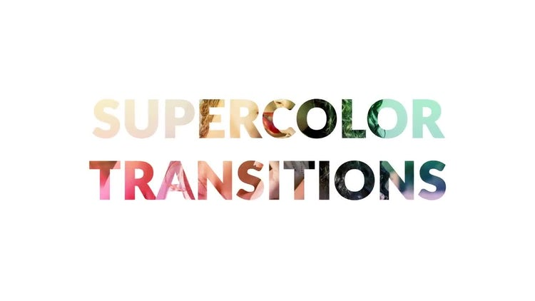 Supercolor Transitions: Motion Graphics