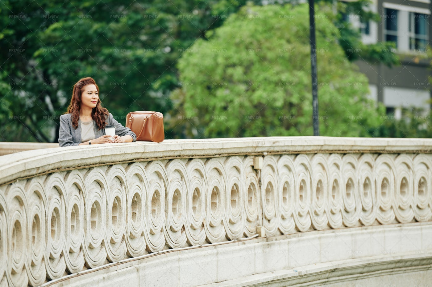 Woman Enjoying Beautiful View: Stock Photos