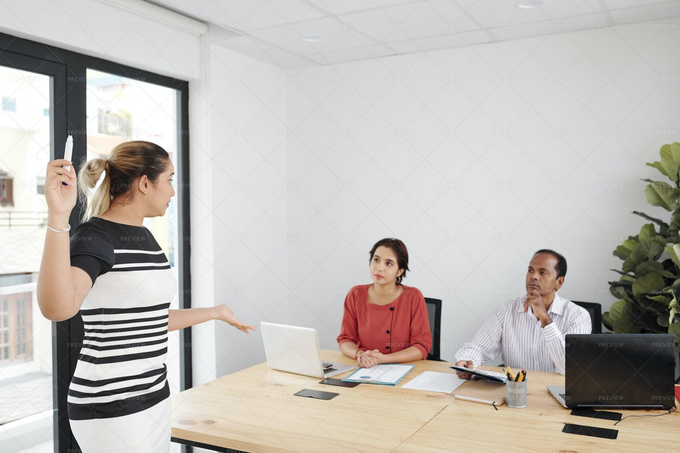 Business Seminar At Office: Stock Photos