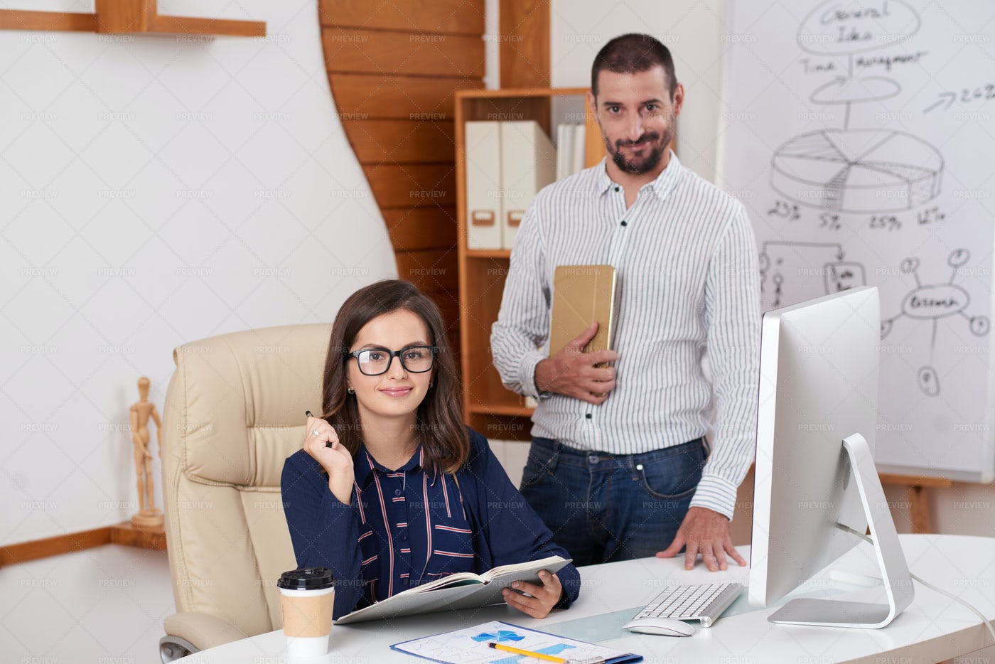 Happy Business Couple: Stock Photos