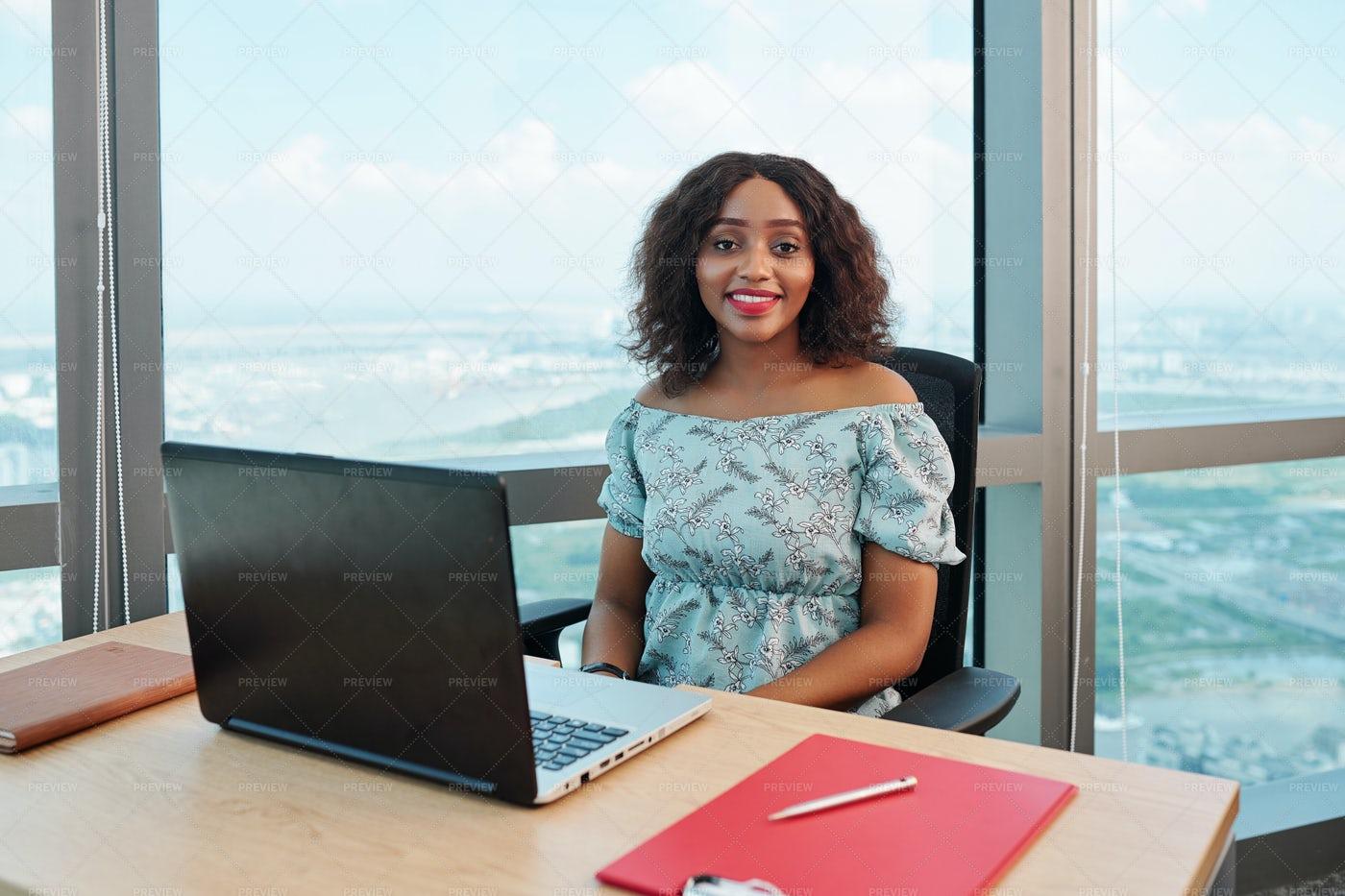 Businesswoman At Office Desk: Stock Photos