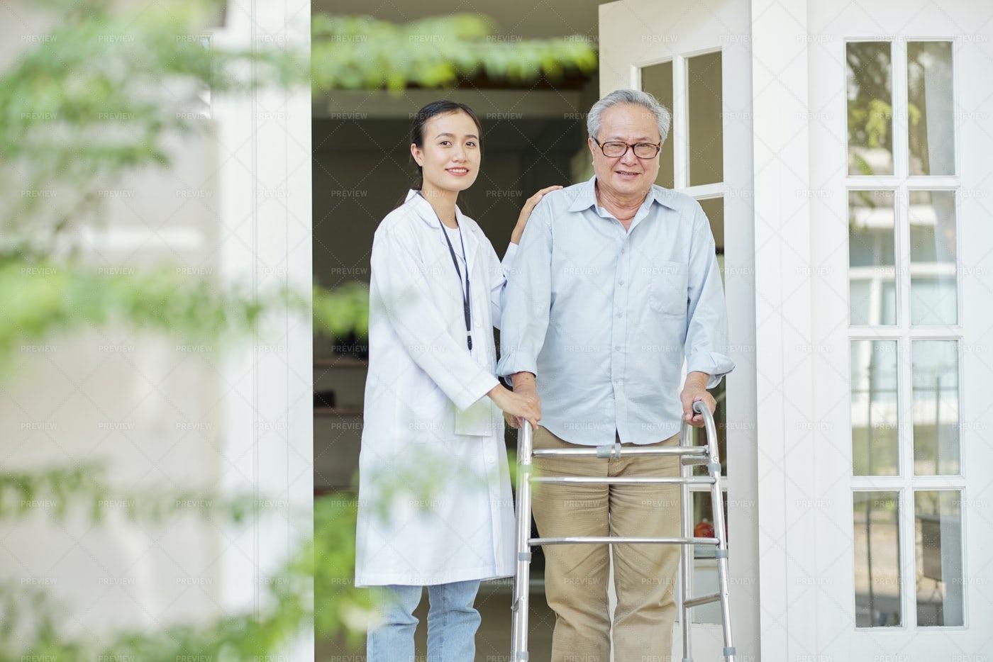 Man At Nursing Home: Stock Photos
