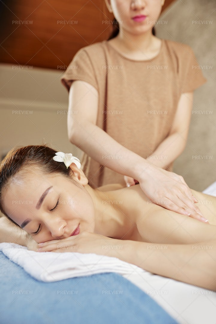 Woman Resting In Spa Salon: Stock Photos