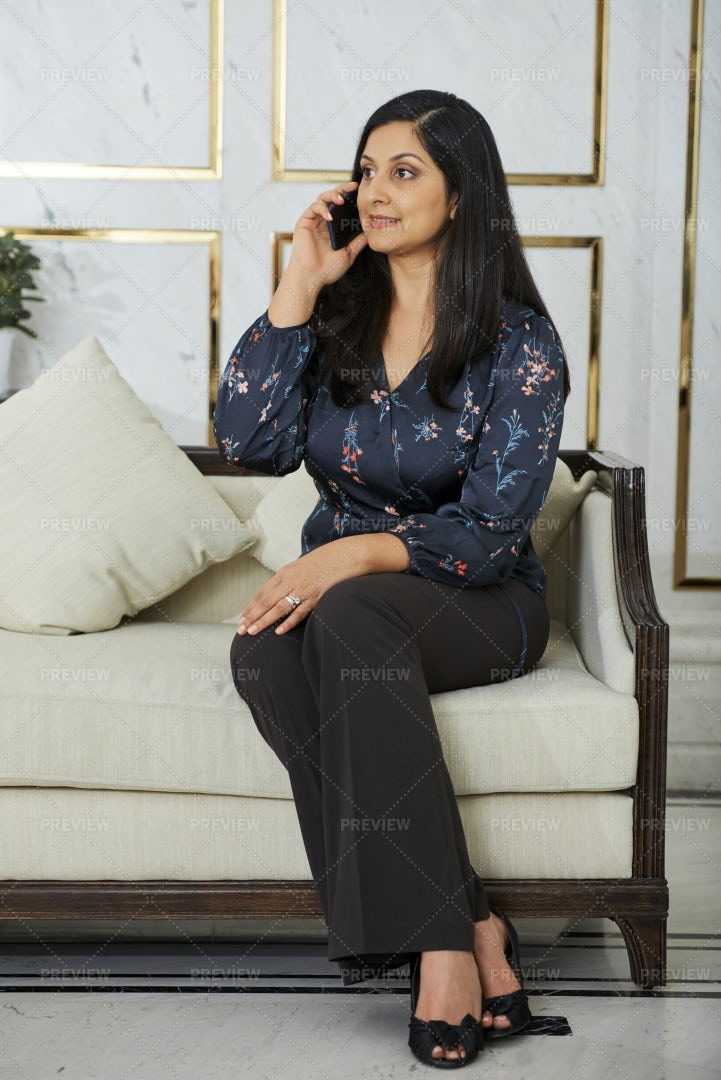 Business Lady Talking On Phone: Stock Photos