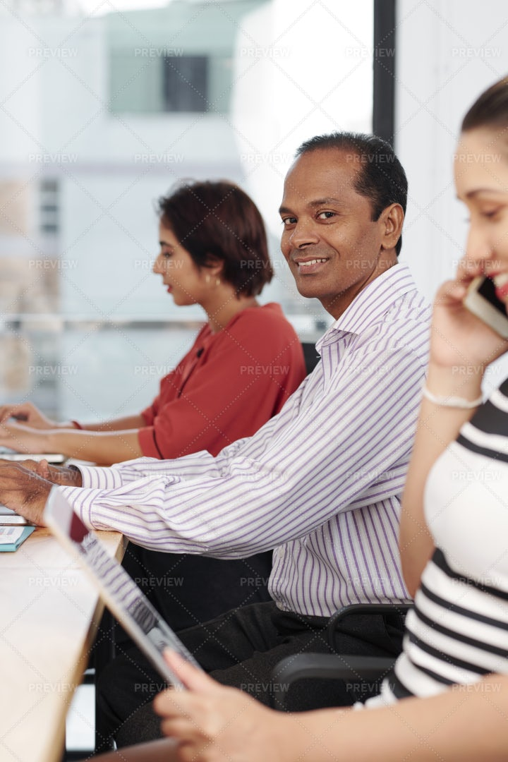 Businessman Working At Office: Stock Photos