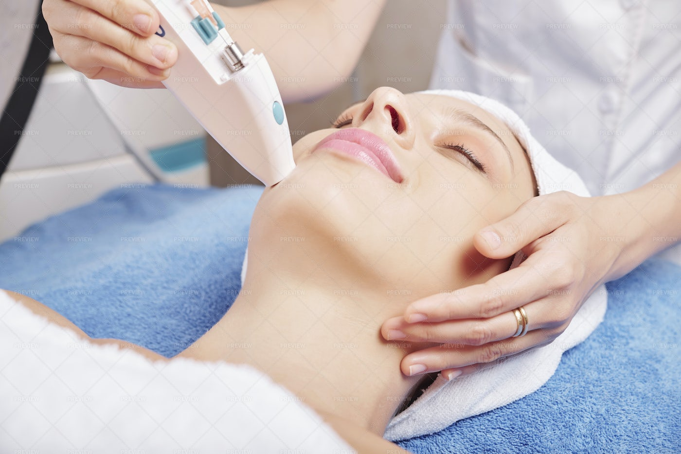 Injection Of Skin Boosters: Stock Photos
