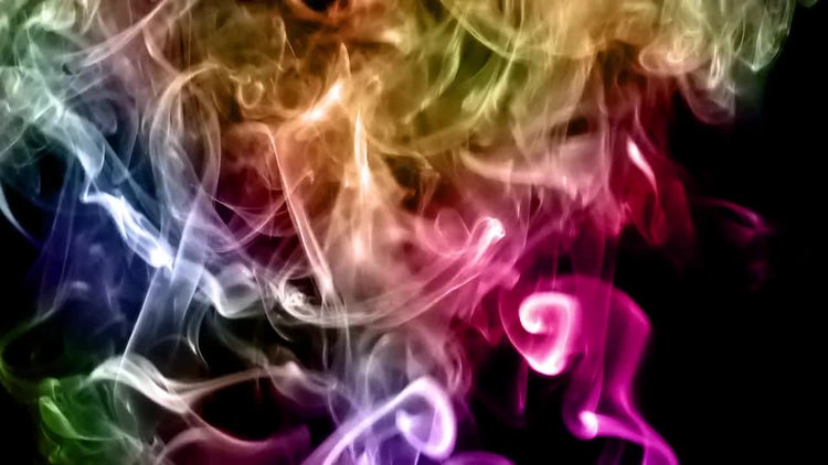 Colorful Smoke Spread: Stock Video