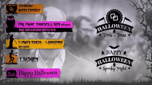 Halloween Lower Thirds Kit: After Effects Templates