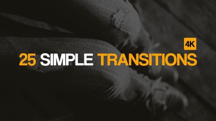 25 Simple Transitions: After Effects Templates