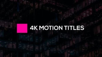 Elpis Motion Titles: After Effects Templates