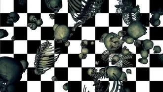 Falling Bones Loop: Motion Graphics