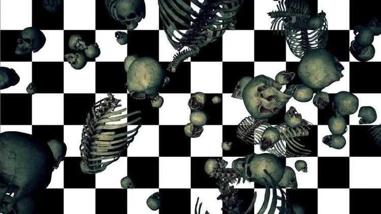 Falling Bones Loop: Stock Motion Graphics