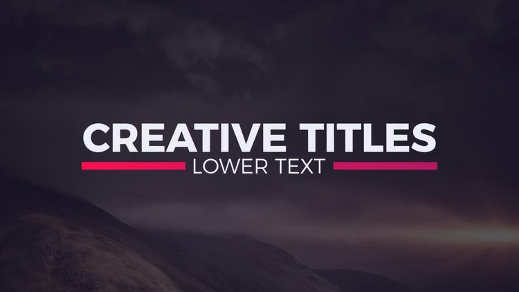 20 Titles Pack: After Effects Templates