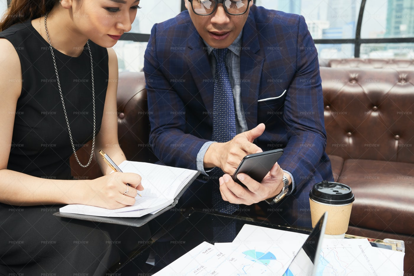 Business Couple Planning Work Together: Stock Photos