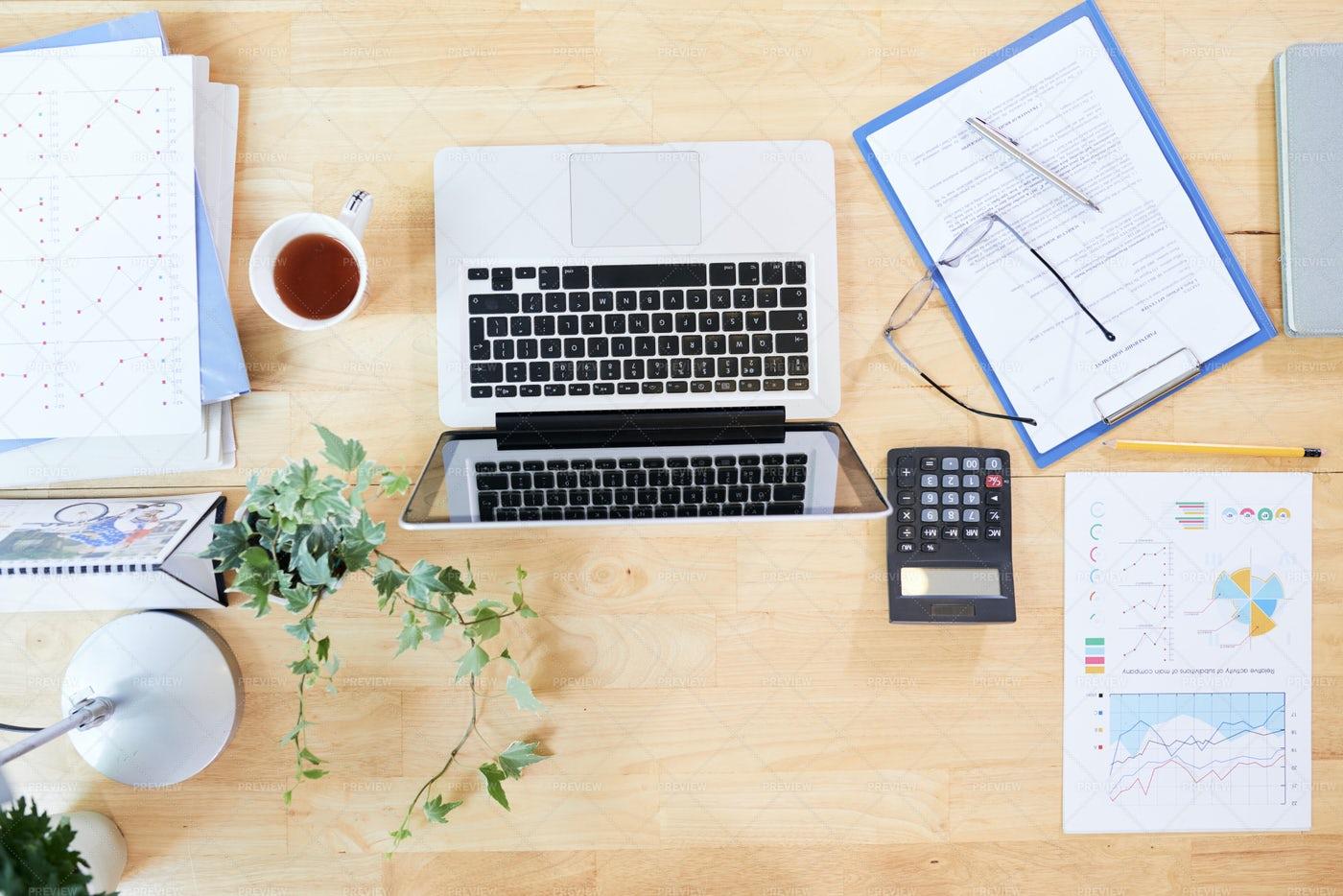 Workspace Of Entrepreneur: Stock Photos