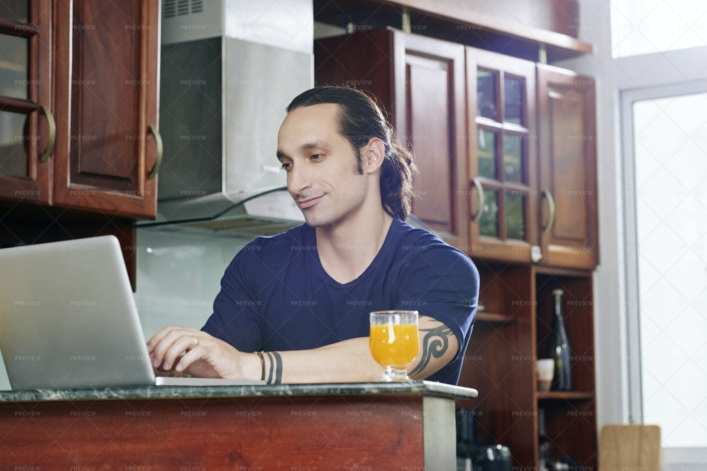 Working Online At Home: Stock Photos