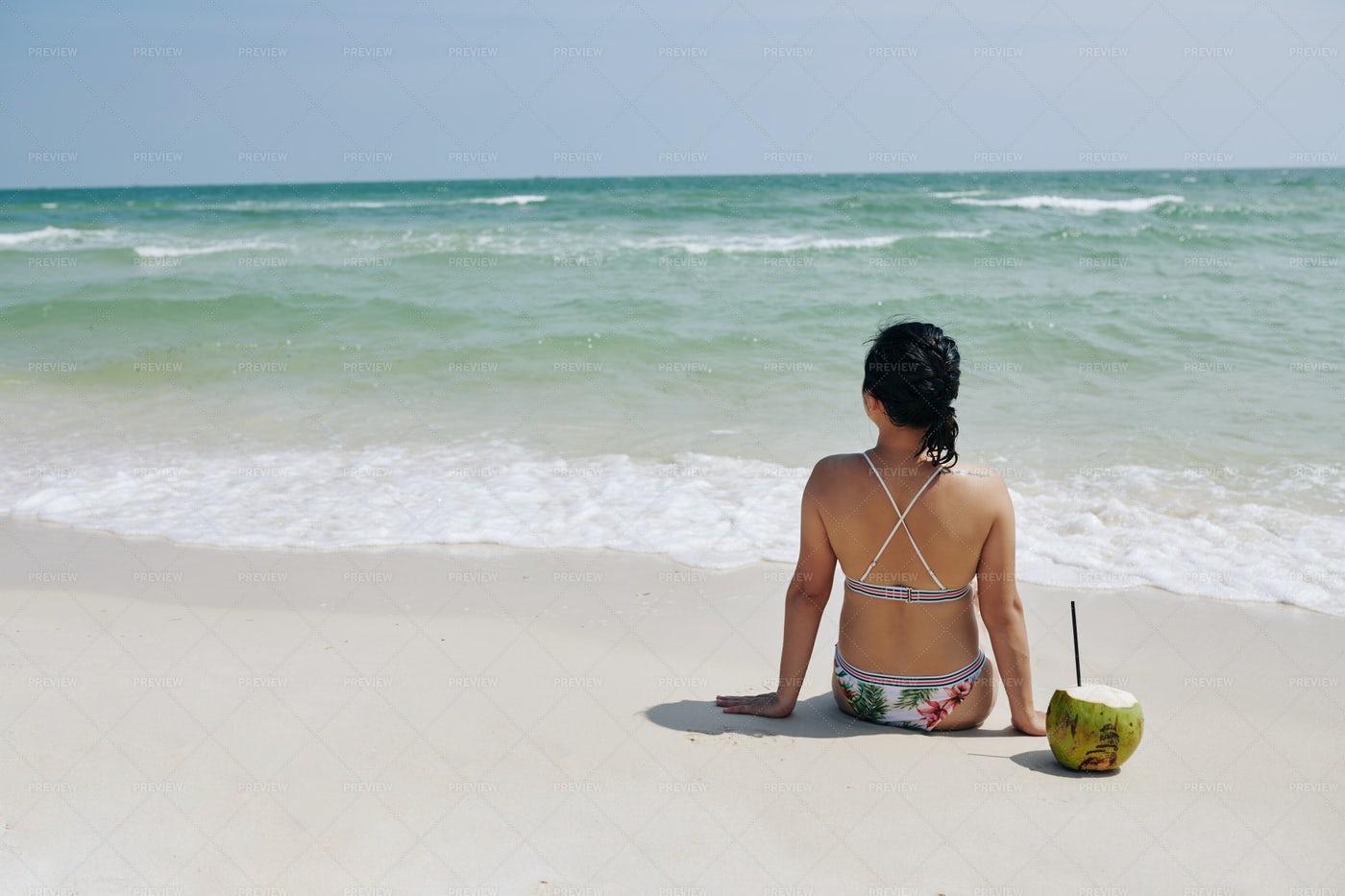 Sunny Day On The Beach: Stock Photos