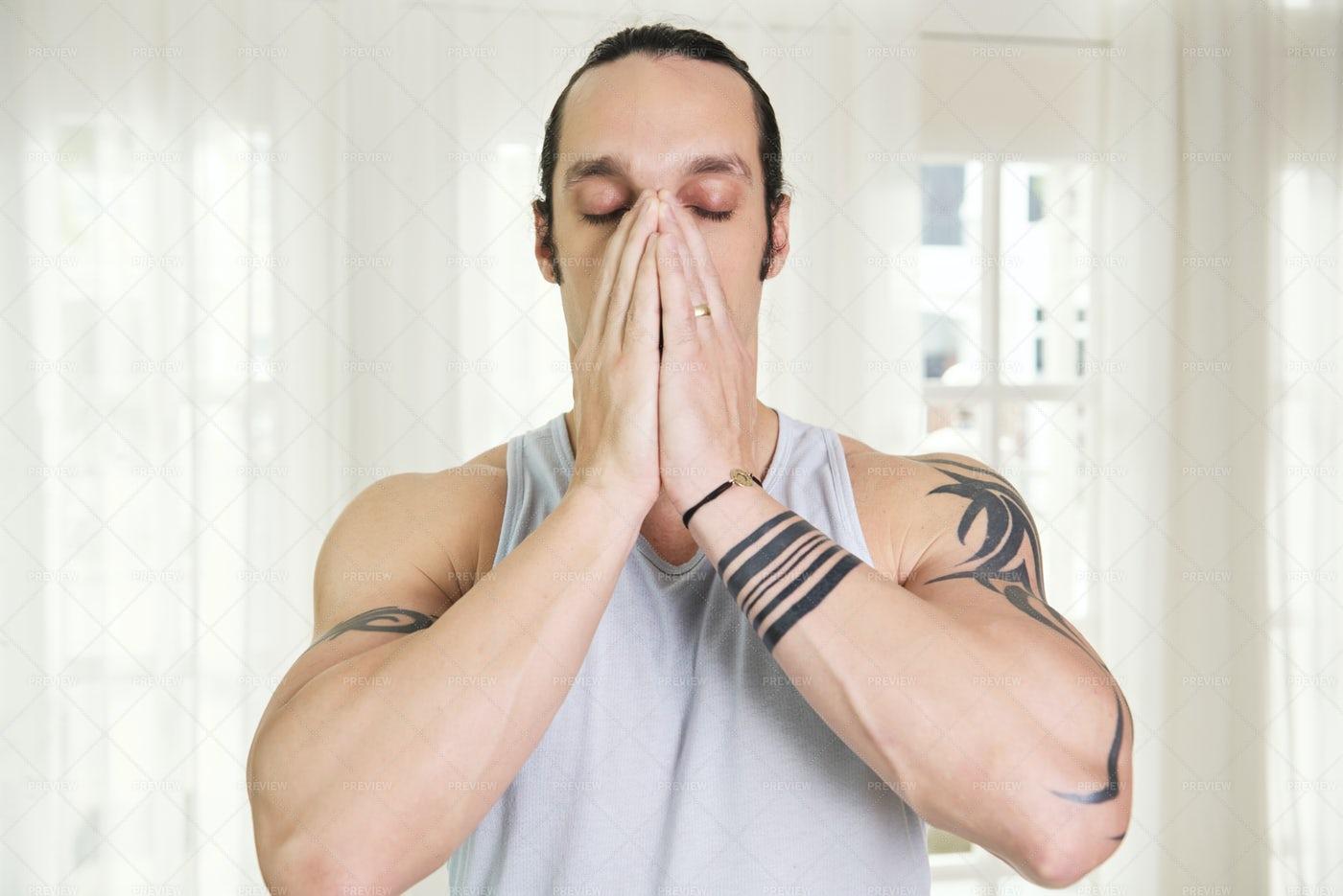 Man Almost Sneezing: Stock Photos
