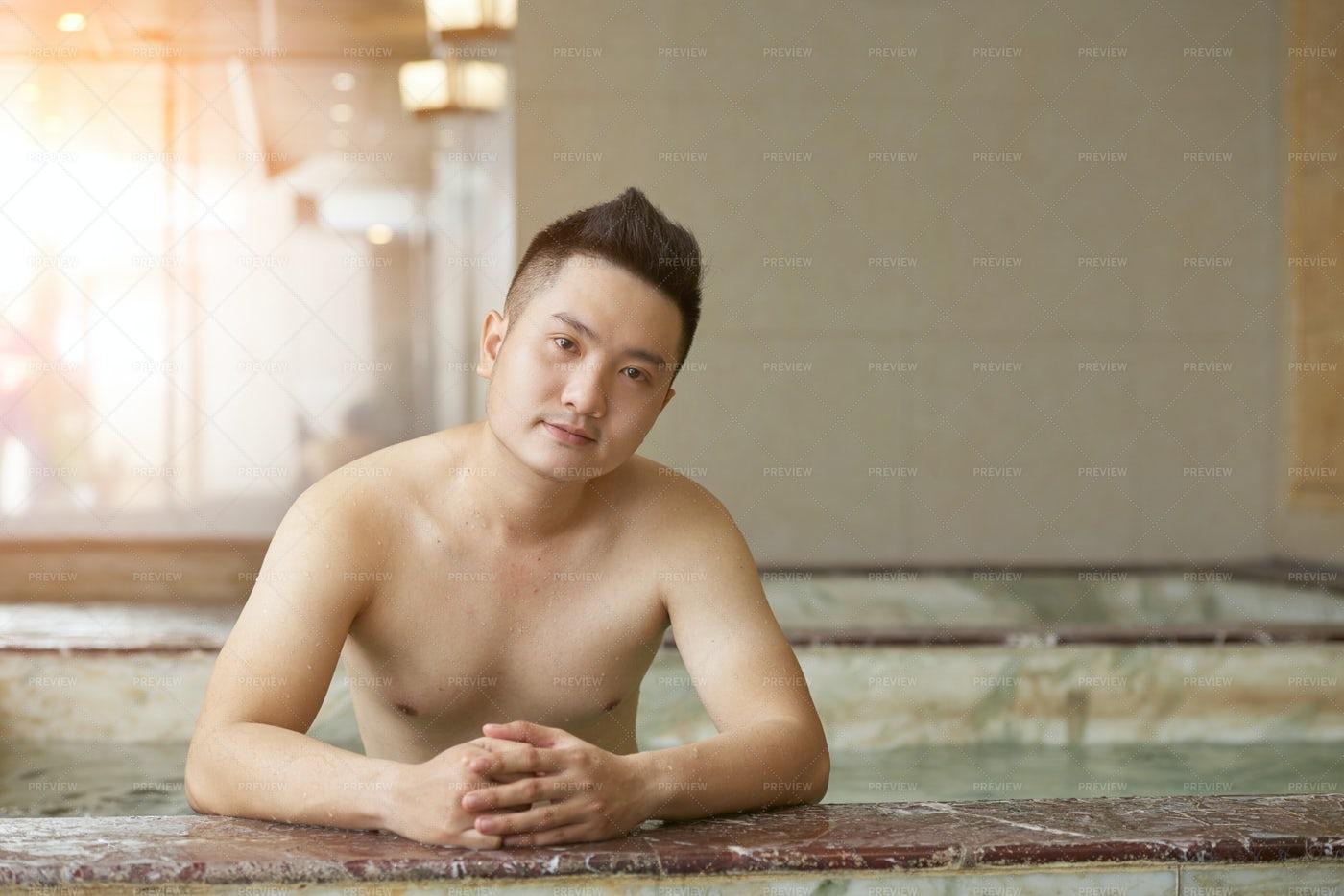 Young Man In Wellnes Centre: Stock Photos