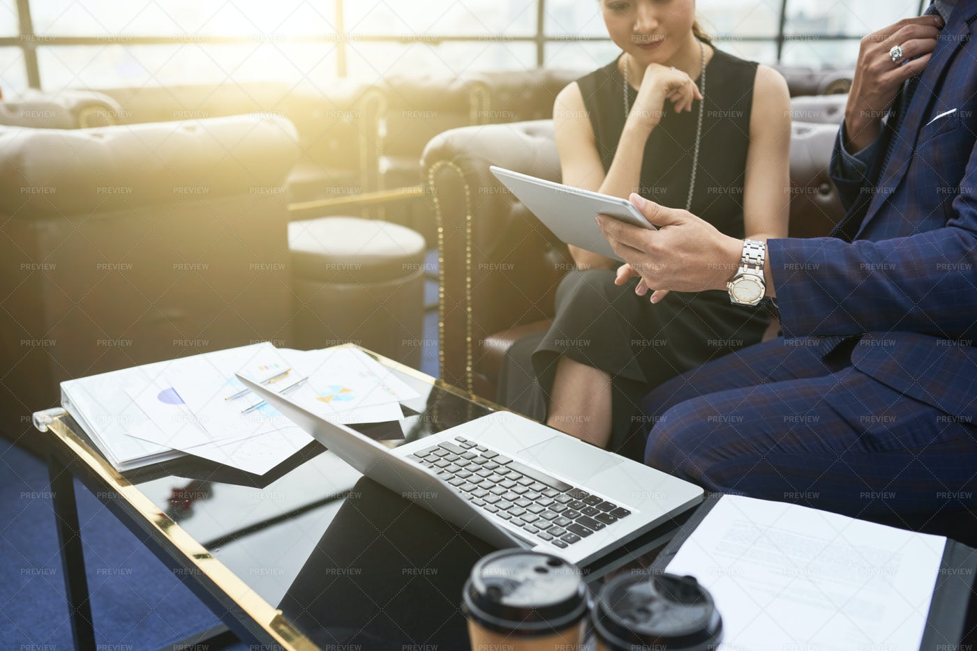 Business People Using Wireless Gadgets: Stock Photos