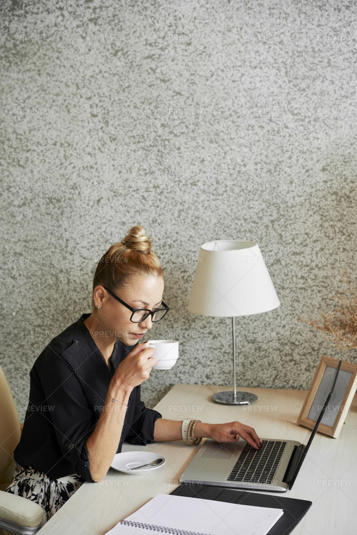 Business Lady Checking Schedule: Stock Photos