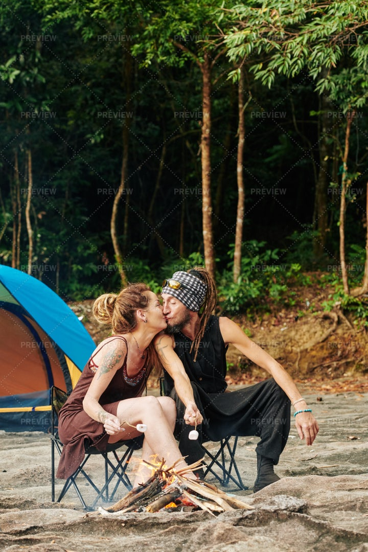 Romantic Weekend In Forest: Stock Photos