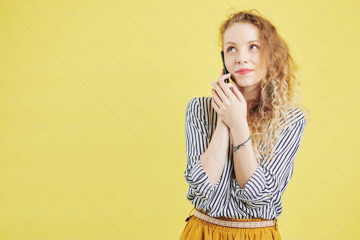 Young Woman Calling Boyfriend: Stock Photos